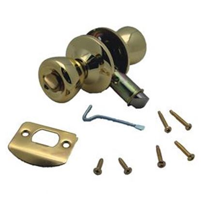 Picture of AP Products  Polished Brass Dead Bolt Entry Door Latch For Privacy Door 013-202 20-0579