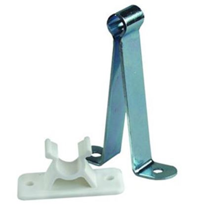 "Picture of JR Products  Metal 3"" C-Clip Style Entry Door Holder w/ Plastic Socket 10545 20-0657"