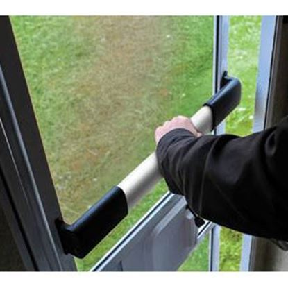Picture of Camco  Black Aluminum Wide Single Bar Style Screen Door Push Bar 42188 20-0736