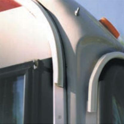 Picture of EZE  100'L Polar White Poly Vinyl Drip Rail For RV Roof Edge UW10004 20-1262