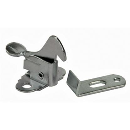 Picture of JR Products  Zinc Plated Steel Screen Door Latch 10755 20-1611