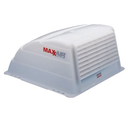 "Picture of MaxxAir  Exterior Dome Type White 19.25""L Roof Cover For 14"" X 14"" Vents 00-933066 22-0370"