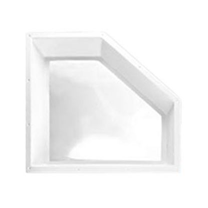 """Picture of Specialty Recreation  5""""H Bubble Dome Neo Angle White PC Skylight w/26"""" X 14"""" Flange NN2412 22-0573"""