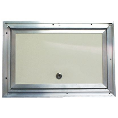 """Picture of Interstate Metal  Colonial White Anodized Aluminum 18"""" X 24"""" Baggage Access Door 22-0614 22-0614"""