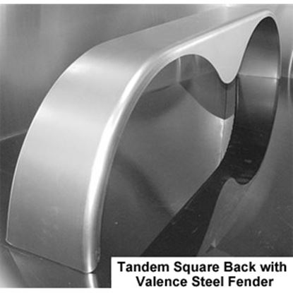 """Picture of ConnX  72"""" Long Radius Tandem Teardrop Trailer Fender for 15"""" to 16"""" Wheels MFS057 25-4009"""