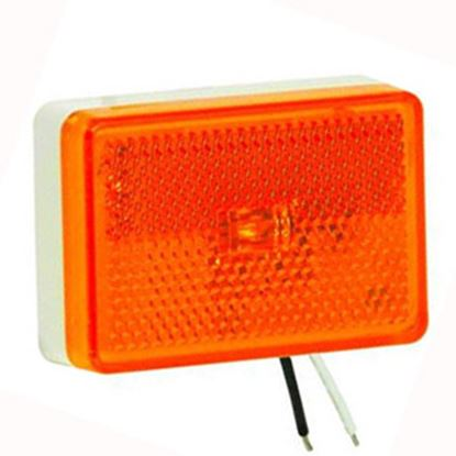 """Picture of Bargman  Amber 2.62""""x1.83""""x0.83"""" LED Side Marker Light 47-222015 69-0342"""