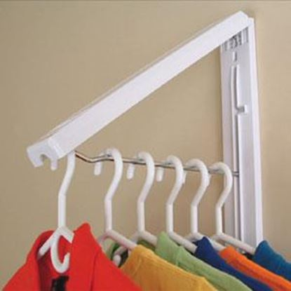 Picture of Instahanger  Espresso Wood Foldaway Clothes Hanging System AH12PF/MESP 69-5330