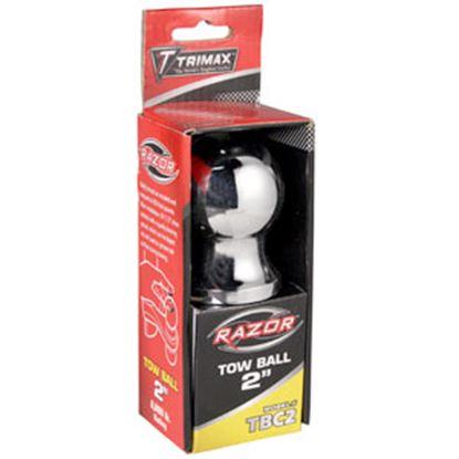 "Picture of Trimax Locks  Chrome 2"" Trailer Hitch Ball w/ 1"" Diam Shank TBC2 69-8259"