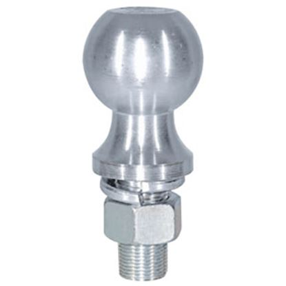 """Picture of Buyer's  2K lbs. 2-1/8"""" Shank 1-7/8"""" x 1"""" Lift Zinc Hitch Ball 1802111 69-8524"""
