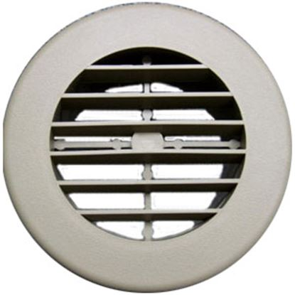 "Picture of D&W INC.  Beige 4"" Round 360 Deg Rotation Heating/ Cooling Register w/o Damper 3940DB 69-8748"