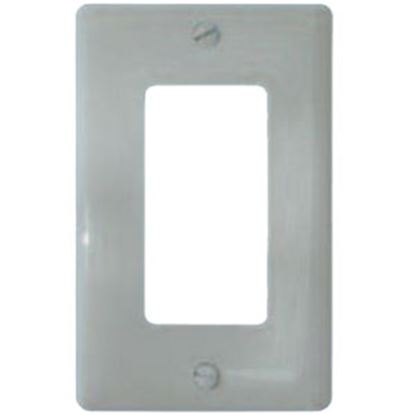 Picture of Diamond Group  White 1 Decor Opening Switch Plate Cover 59939 69-8803
