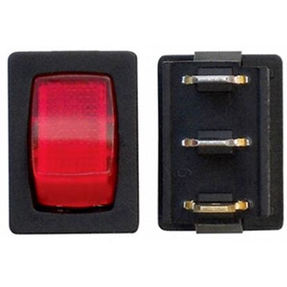 Picture of Diamond Group  3-Bag Red/ Black 125V/ 16A SPST Lighted Rocker Switches For Water Pumps DG623PB 69-8823