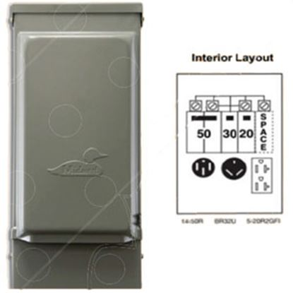 Picture of Parallax  120/ 240VAC 50/30A Outdoor/ Indoor Receptacle w/ 20A GFI U075CTL010 71-5408