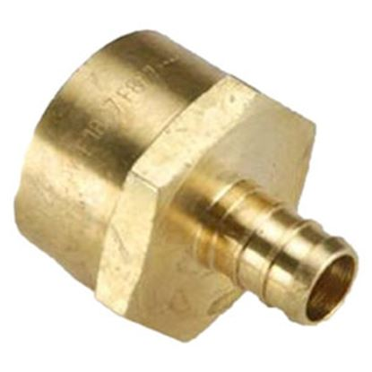 """Picture of BestPEX  1/2"""" Hose Barb x 3/4"""" FPT Brass Fresh Water Straight Fitting 51129 72-0821"""