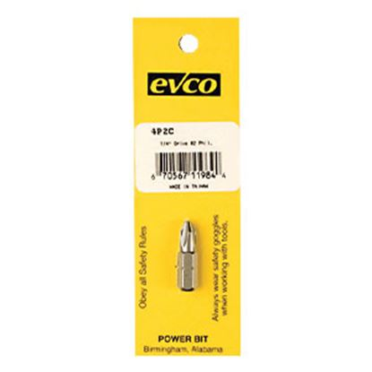 """Picture of AP Products  #2 Point 1/4""""x1"""" Phillips Power Screw Bit 009-4P2C 94-8010"""
